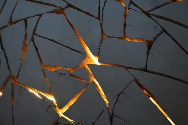 Grosvenor Edgemont Illuminated Shattered Sphere - close-up