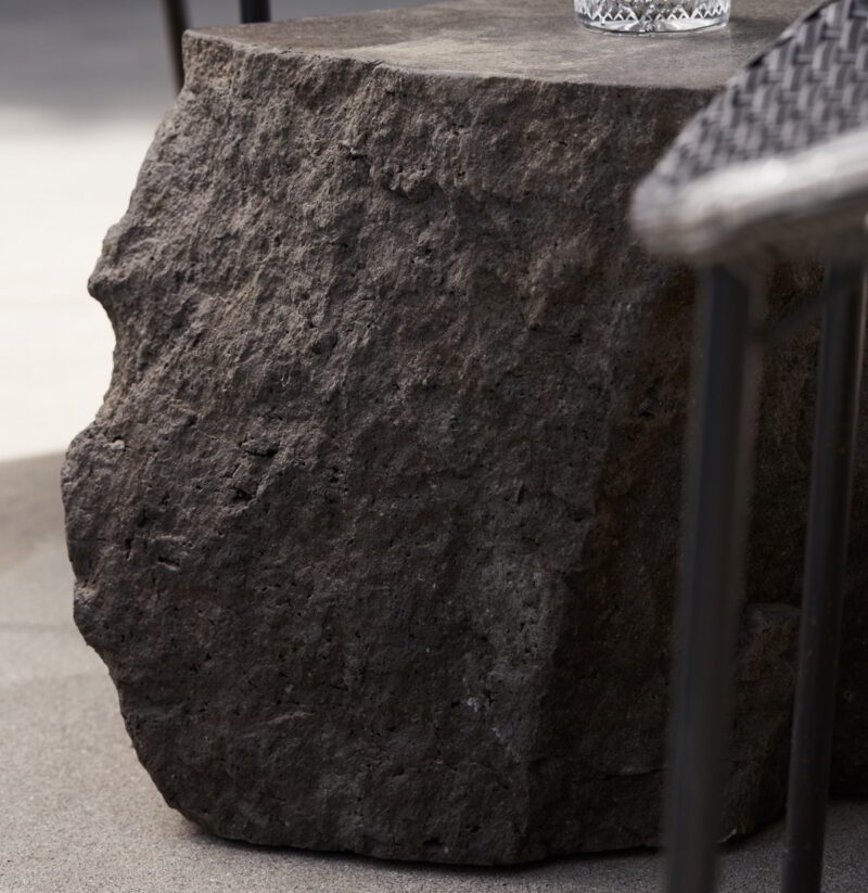 The texture of the Ebb boulder pictured in detail.