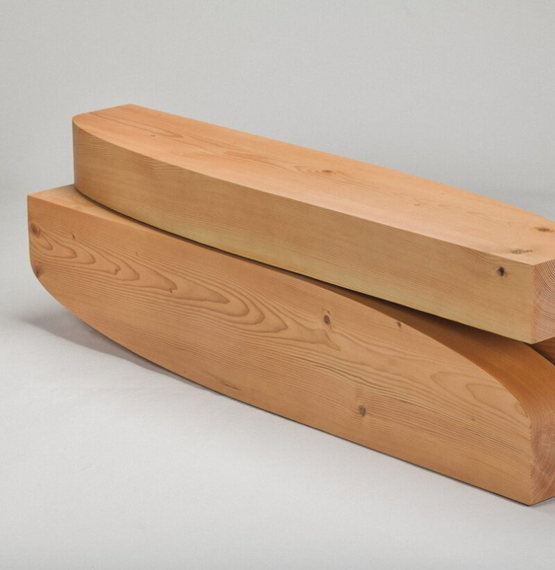 Front-side view of the shin table.