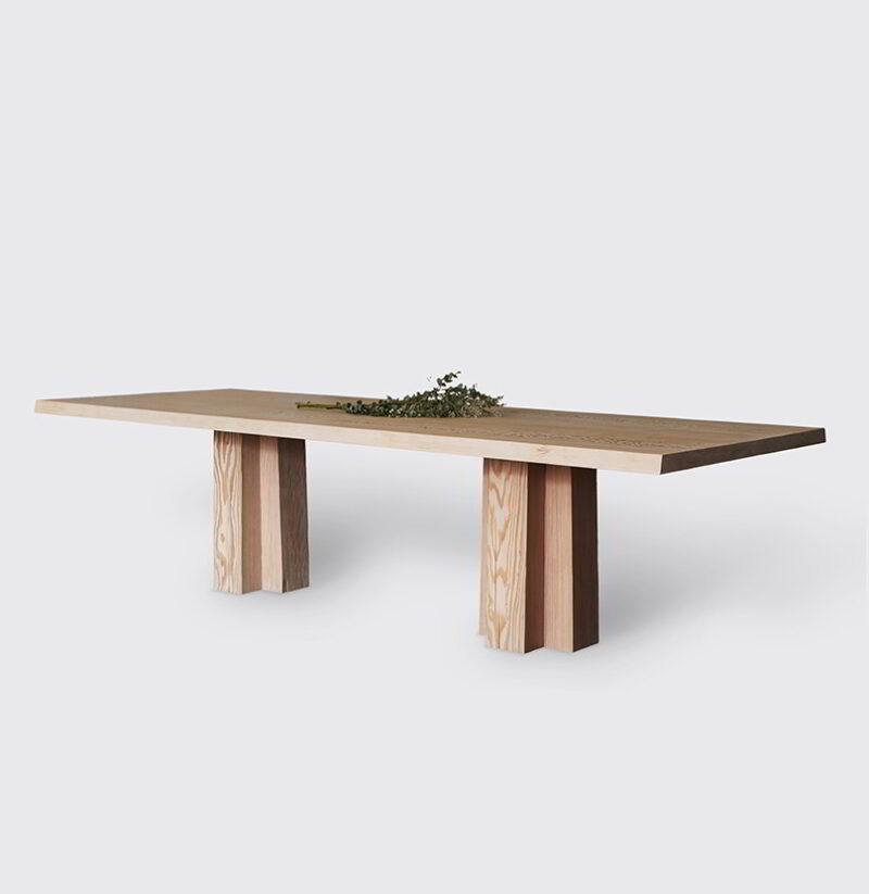 The Soma Dining Table treated with Soft White Hardwax Oil.
