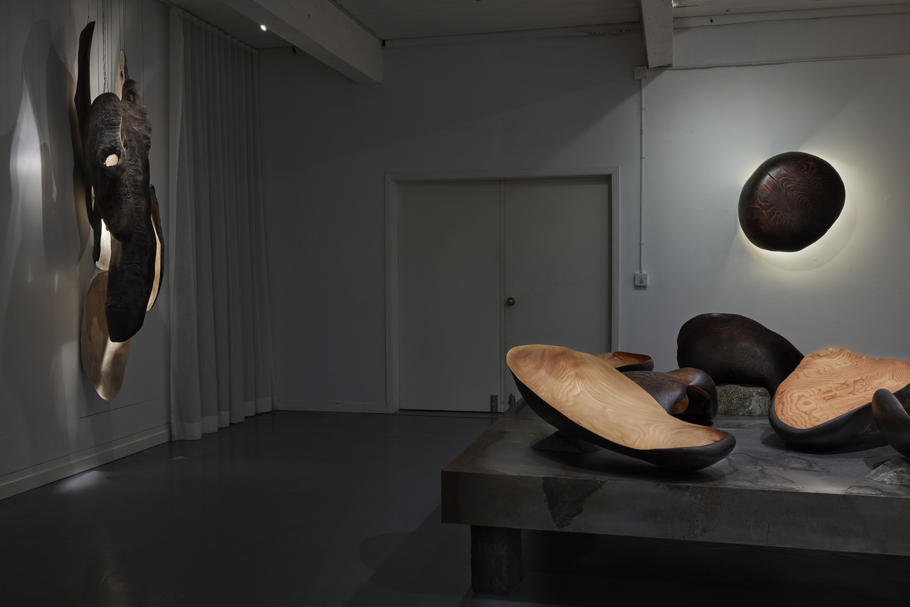 View of the atelier gallery space during the discovery show.