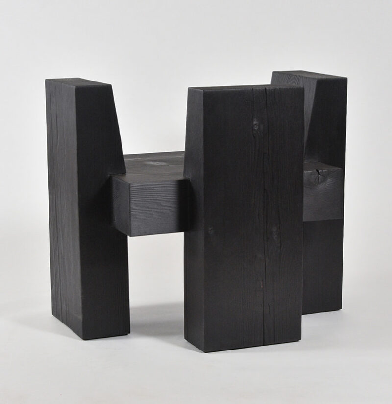 The beton brut chair back is pictured against a white background