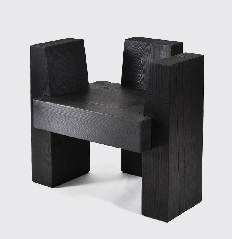 The beton brut chair is pictured against a white background
