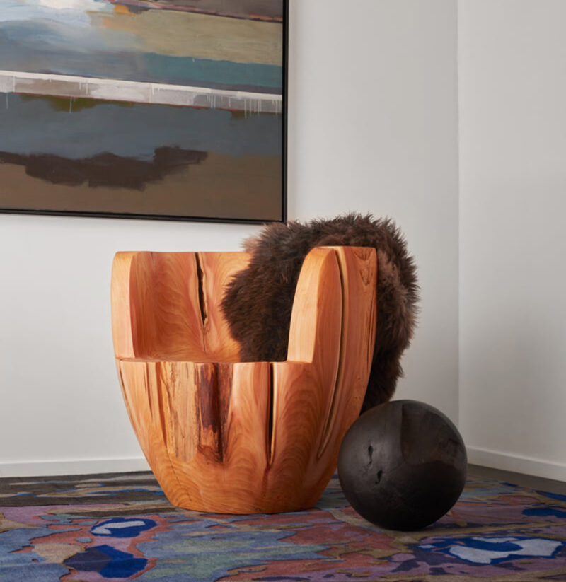 The Daylily chair is pictured.