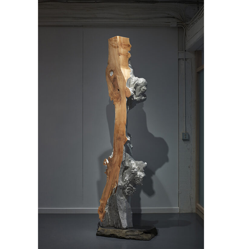 The Sentinel sculpture is pictured in the atelier.
